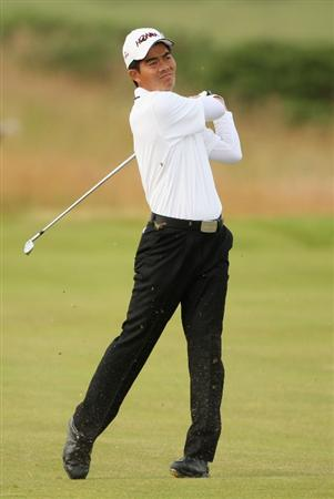 TURNBERRY, SCOTLAND - JULY 16:  Wen-Chong Liang of China hits an approach shot  during round one of the 138th Open Championship on the Ailsa Course, Turnberry Golf Club on July 16, 2009 in Turnberry, Scotland.  (Photo by Andrew Redington/Getty Images)