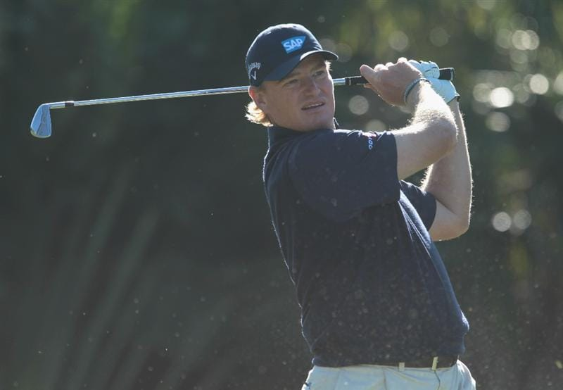 DORAL, FL - MARCH 11:  Ernie Els of South Africa hits his tee shot on the 13th hole during the completion of the first round of the 2011 WGC- Cadillac Championship at the TPC Blue Monster at the Doral Golf Resort and Spa on March 11, 2011 in Doral, Florida.  (Photo by Scott Halleran/Getty Images)