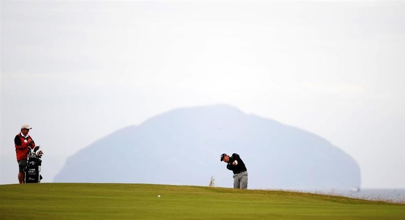 TURNBERRY, SCOTLAND - JULY 13:  Graeme McDowell of Northern Ireland in action during the practice round of the 138th Open Championship on July 13, 2009 on the Ailsa Course, Turnberry Golf Club, Turnberry, Scotland.  (Photo by Harry How/Getty Images)