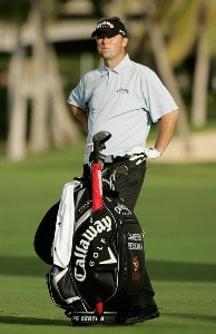 Cameron Beckman waits for play during the second round of the Sony Open in Hawaii held at Waialae Country Club on January 11, 2008 in Honolulu, Hawaii. PGA TOUR - 2008 Sony Open in Hawaii - Second RoundPhoto by Stan Badz/PGA TOUR/WireImage.com