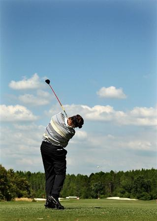LUTZ, FL - APRIL 15: Steve Lowery hits his tee shot on the 15th hole during the first round of the Outback Steakhouse Pro-Am at the TPC of Tampa on April 15, 2011 in Lutz, Florida.  (Photo by Mike Ehrmann/Getty Images)