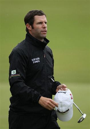 VIRGINIA WATER, ENGLAND - MAY 26:  Bradley Dredge of Wales looks on during the first round of the BMW PGA Championship at Wentworth Club on May 26, 2011 in Virginia Water, England.  (Photo by Warren Little/Getty Images)