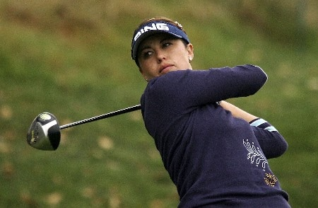 HUIXQUILUCAN, MEXICO - MARCH 10:  Stacy Prammanasudh hits her tee shot on the tenth hole during the second round of the MasterCard Classic at Bosque Real Country Club on March 10, 2007 in Huixquilucan, Mexico.  (Photo by Scott Halleran/Getty Images)