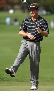Fred Funk reacts at missing a birdie putt on the first hole during the second round of the Charles Schwab  Cup Championship on October 26, 2007 at the Sonoma Golf Club in Sonoma, California Champions Tour - 2007 Charles Schwab Cup Championship - Second RoundPhoto by Marc Feldman/WireImage.com