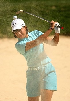 HUIXQUILUCAN, MEXICO - MARCH 15:  Julieta Granada of Paraguay plays a bunker shot during the second round of the MasterCard Classic at Bosque Real Country Club on March 15, 2008 in Huixquilucan, Mexico.  (Photo by Scott Halleran/Getty Images)