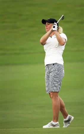 BANGKOK, THAILAND - FEBRUARY 27:  Suzann Pettersen of Norway plays her 2nd shot on the 5th hole during day two of the Honda LPGA Thailand 2009 at Siam Country Club Plantation on February 27, 2009 in Pattaya, Chonburi, Thailand. (Photo by Chumsak Kanoknan/Getty Images)