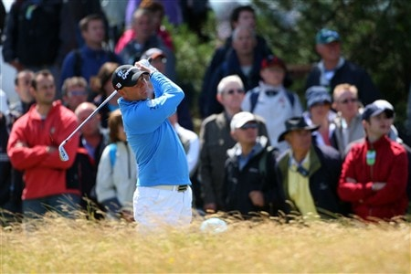 SOUTHPORT, UNITED KINGDOM - JULY 20: Graeme Storm of England plays a shot on the 1st during the final round of the 137th Open Championship on July 20, 2008 at Royal Birkdale Golf Club, Southport, England.  (Photo by Andrew Redington/Getty Images)