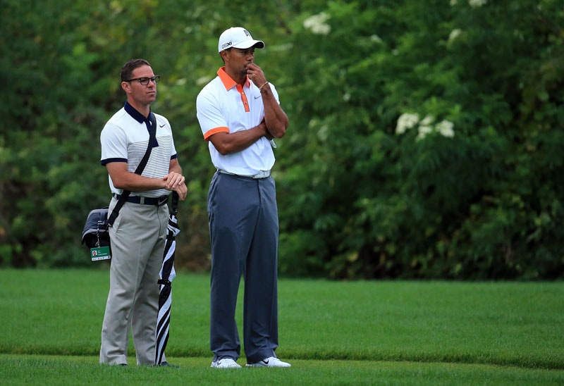 Tiger Woods and Sean Foley