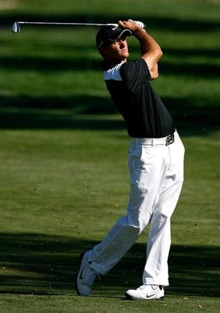BOISE, ID - SEPTEMBER 17:  Sam Saunders hits his second shot on the 14th hole during the first round of the Albertson's Boise Open at Hillcrest Country Club on September 17, 2009 in Boise, Idaho.  (Photo by Jonathan Ferrey/Getty Images)