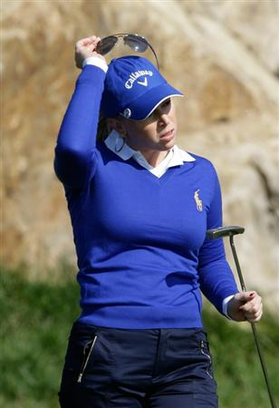INCHEON, SOUTH KOREA - OCTOBER 29:  Morgan Pressel of United States on the second green during the 2010 LPGA Hana Bank Championship at Sky 72 golf club on October 29, 2010 in Incheon, South Korea.  (Photo by Chung Sung-Jun/Getty Images)