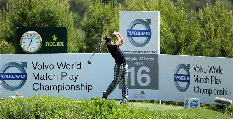 CASARES, SPAIN - MAY 21:  Aaron Baddeley of Australia during his last 16 match of the Volvo World Match Play Championships at Finca Cortesin on May 20, 2011 in Casares, Spain.  (Photo by Warren Little/Getty Images)
