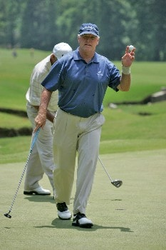Tom Jenkins at the 5th green during the final round of the Bruno's  Memorial Classic, May 22,2005, held at Greystone GC, Birmingham, Al. Weibring shot 15 under par for the tournament.Photo by Stan Badz/PGA TOUR/WireImage.com