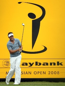 KUALA LUMPUR, MALAYSIA - MARCH 07:  Nick Dougherty of England tees of on the first hole during the second round of the Maybank Malaysian Open held at the Kota Permai Golf & Country Club on March 7, 2008 in Kuala Lumpur, Malaysia  (Photo by Ross Kinnaird/Getty Images)