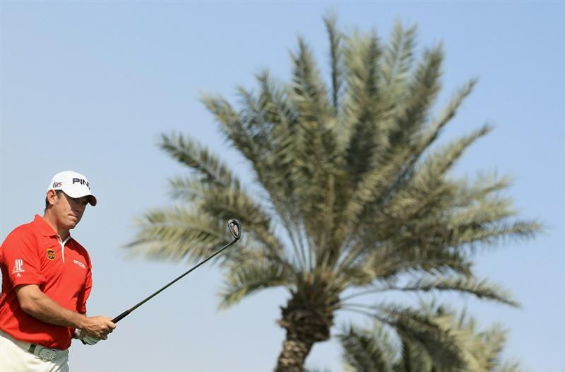 DOHA, QATAR - FEBRUARY 02:  Lee Westwood of England hits his second shot on the third hole during the Pro Am prior to start of the Commercialbank Qatar Masters held at Doha Golf Club on February 2, 2011 in Doha, Qatar.  (Photo by Andrew Redington/Getty Images)