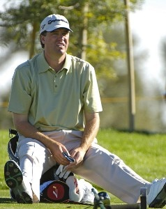Brent Geiberger waits to tee off the 13th tee during the third  round of the Bob Hope Chrysler Classic at The Classic Club   on Friday, January 20, 2006 in Palm Desert, California.Photo by Marc Feldman/WireImage.com