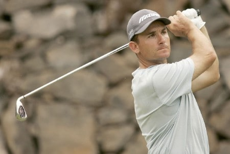 Ignacio Garrido during the third round of the 2005 Abama Open De Canarias at the Abama Golf Resort in Guia De Isora, Spain on October 8, 2005.Photo by Pete Fontaine/WireImage.com