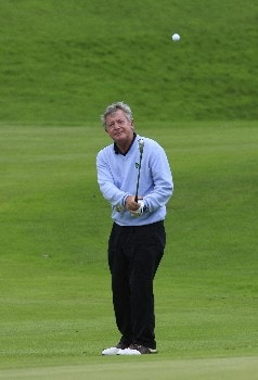 HEXHAM, UNITED KINGDOM - AUGUST 21:  Maurice Bembridge of England chips to the 18th green during the first round of the De Vere Collection PGA Seniors Championship played over the Hunting Course, Slaley Hall on August 21, 2008 in Hexham, Northumberland, England.  (Photo by Phil Inglis/Getty Images)
