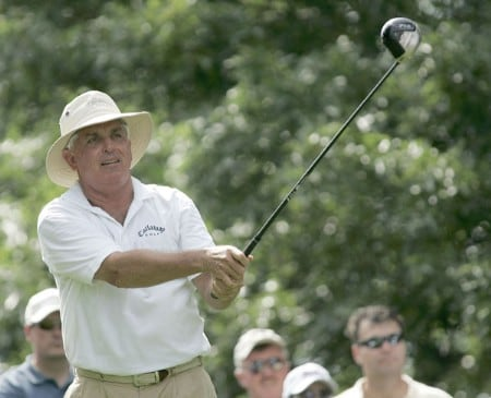 Dave Eichelberger during the second round of the 2005 Commerce Bank Championship at Eisenhower Park in East Meadow, New York on July 2, 2005.Photo by Michael Cohen/WireImage.com