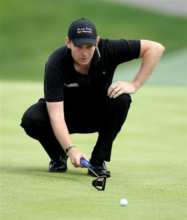 NEWPORT, WALES - JUNE 05:  Stephen Gallacher of Scotland during the third round of the Celtic Manor Wales Open on the 2010 Course at the Celtic Manor Resort on June 5, 2010 in Newport, Wales.  (Photo by Ross Kinnaird/Getty Images)