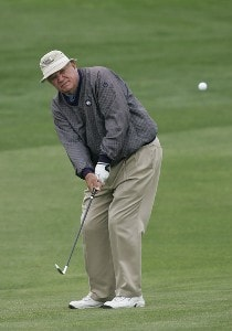 Bob Goalby competes in the Demaret competition during the Liberty Mutual Legends of Golf at Westin Savannah Harbor Golf Resort & Spa in Savannah, Georgia, on April 18, 2006.Photo by: Chris Condon/PGA TOUR