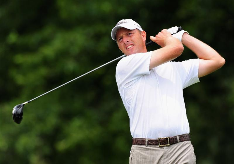 JOHANNESBURG, SOUTH AFRICA - JANUARY 15:  Soren Hansen of Denmark plays his tee shot during the second round of the Joburg Open at Royal Johannesburg and Kensington Golf Club on January 15, 2010 in Johannesburg, South Africa.  (Photo by Stuart Franklin/Getty Images)