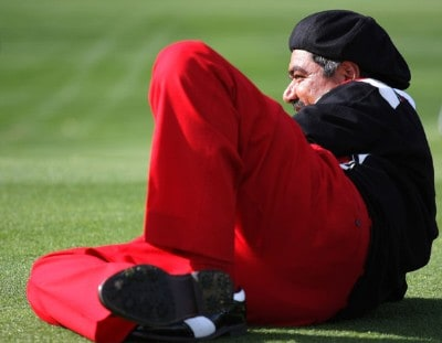 George Lopez waits on the 12th hole during the first round of the 49th Bob Hope Chrysler Classic at the Silverrock Resort on January 16, 2008 in La Quinta, California. PGA TOUR - 2008 Bob Hope Chrysler Classic - Round OnePhoto by Harry How/WireImage.com