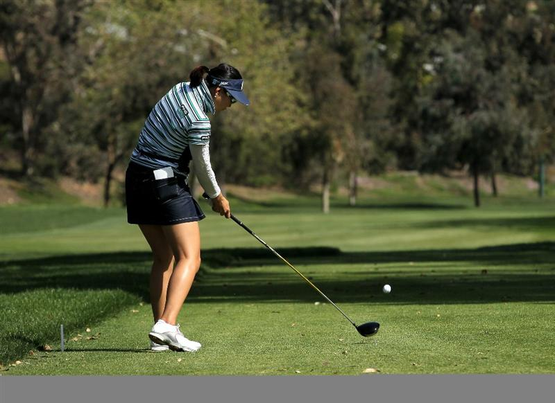 CARLSBAD, CA - MARCH 27:  Hee Kyung Seo of South Korea hits her tee shot on the fourth hole during the third round of the Kia Classic Presented by J Golf at La Costa Resort and Spa on March 27, 2010 in Carlsbad, California.  (Photo by Stephen Dunn/Getty Images)