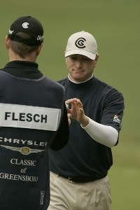 Steve Flesch  during the fourth and final round of the Chrysler Classic of Greensboro at Forest Oaks Country Club in Greensboro, North Carolina on October 8, 2006. PGA TOUR - 2006 Chrysler Classic of Greensboro - Final RoundPhoto by Michael Cohen/WireImage.com