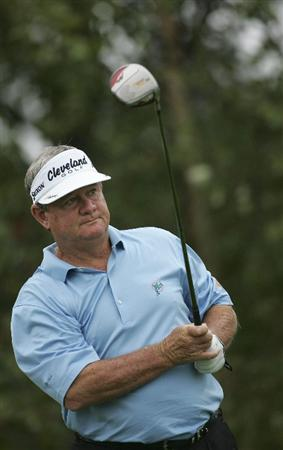 CARY, NC - SEPTEMBER 26:  Bobby Wadkins watches his drive during the second round of the SAS Championship at Prestonwood Country Club held on September 26, 2009 in Cary,  North Carolina.  (Photo by Michael Cohen/Getty Images)