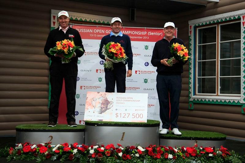 Simon P. Brown of England, Carl Mason of England and Mike Harwood of Australia