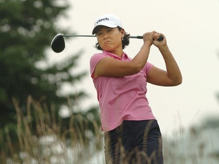 Kim Saiki in action during the second round of the LPGA's Wendy's Championship For Children at Tartan Fields Golf Club in Dublin, Ohio August 26, 2005.Photo by Steve Grayson/WireImage.com