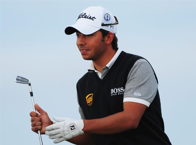 TURNBERRY, SCOTLAND - JULY 16:  Pablo Larrazabal of Spain looks on during round one of the 138th Open Championship on the Ailsa Course, Turnberry Golf Club on July 16, 2009 in Turnberry, Scotland.  (Photo by Stuart Franklin/Getty Images)
