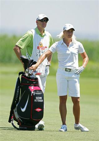 GALLOWAY, NJ - JUNE 18:  Suzann Pettersen of Norway stands by her bag in the fairway during the first round of the ShopRite LPGA Classic held at Dolce Seaview Resort (Bay Course) on June 18, 2010 in Galloway, New Jersey.  (Photo by Michael Cohen/Getty Images)