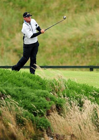 TURNBERRY, SCOTLAND - JULY 17:  JB Holmes of USA tees off during round two of the 138th Open Championship on the Ailsa Course, Turnberry Golf Club on July 17, 2009 in Turnberry, Scotland.  (Photo by Stuart Franklin/Getty Images)