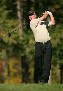 Michael Allen hits his tee shot on the 8th hole during the final round of the Turning Stone Resort Championship at Atunyote Golf Club September 23, 2007 in Verona, NY. PGA TOUR - 2007 Turning Stone Resort Championship - Final RoundPhoto by Mike Ehrmann/WireImage.com