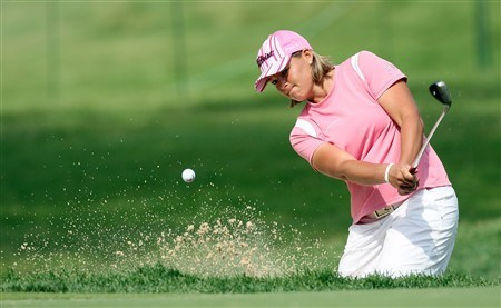 EDINA, MN - JUNE 25:  Katherine Hull of Australia plays from the sand at the 14th hole during a practice round prior to the 2008 U.S. Women's Open at Interlachen Country Club on June 25, 2008 in Edina, Minnesota. (Photo by David Cannon/Getty Images)