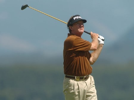 Bob Gilder in action during the first round of the 2005 Boeing Greater Seattle Classic at TPC Snoqualmie in Snoqualmie, Washington August 19, 2005.Photo by Steve Grayson/WireImage.com