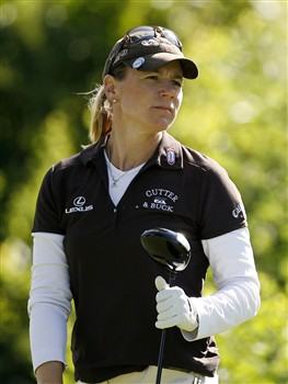 ROCHESTER, NY - JUNE 19: Annika Sorenstam of Sweden watches her tee shot on the 2nd hole during the first round of the Wegmans LPGA at Locust Hill Country Club on June 19, 2008 in Rochester, New York. (Photo by Hunter Martin/Getty Images)