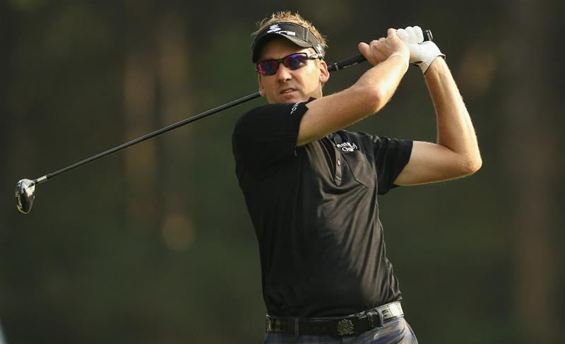 HONG KONG - NOVEMBER 21:  Ian Poulter of England in action during day four of the UBS Hong Kong Open at The Hong Kong Golf Club on November 21, 2010 in Hong Kong, Hong Kong.  (Photo by Ian Walton/Getty Images)