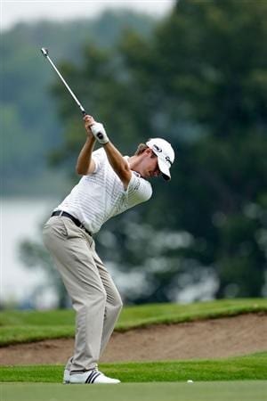 CHASKA, MN - AUGUST 15:  Sean O'Hair hits his second shot on the tenth hole during the third round of the 91st PGA Championship at Hazeltine National Golf Club on August 15, 2009 in Chaska, Minnesota.  (Photo by Jamie Squire/Getty Images)
