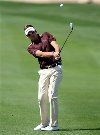 DOHA, QATAR - FEBRUARY 02:  Ian Poulter of England during the pro-am event prior to the Commercialbank Qatar Masters on February 2, 2011 in Doha, Qatar.  (Photo by Ross Kinnaird/Getty Images)
