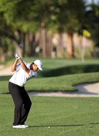 PALM BEACH GARDENS, FL - MARCH 03:  Arjun Atwal of India plays a shot on the 1st hole during the first round of The Honda Classic at PGA National Resort and Spa on March 3, 2011 in Palm Beach Gardens, Florida.  (Photo by Sam Greenwood/Getty Images)