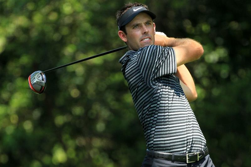 AUGUSTA, GA - APRIL 10:  Charl Schwartzel of South Africa hits his tee shot on the second hole during the final round of the 2011 Masters Tournament at Augusta National Golf Club on April 10, 2011 in Augusta, Georgia.  (Photo by David Cannon/Getty Images)