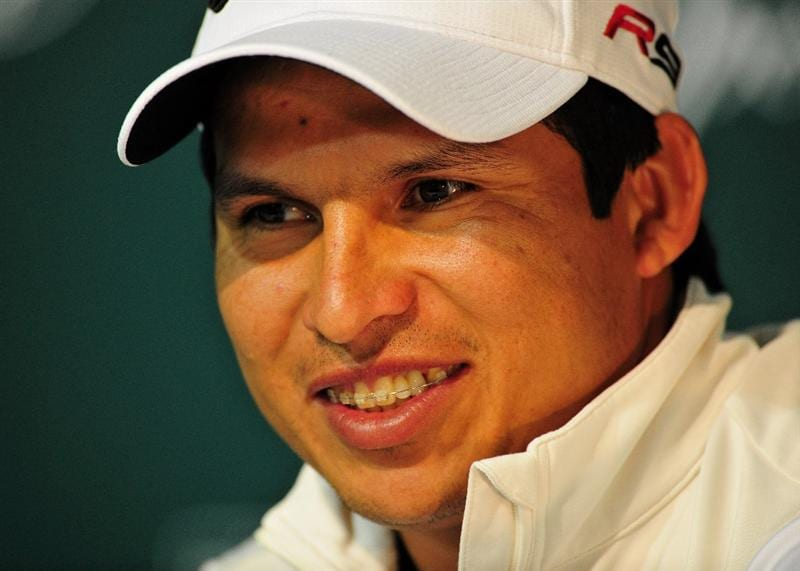 PACIFIC PALISADES, CA - FEBRUARY 21:  Andres Romero of Argentina during his press conference after the third round of the Northern Trust Open at the Riviera Country Club February 21, 2009 in Pacific Palisades, California.  (Photo by Stuart Franklin/Getty Images)