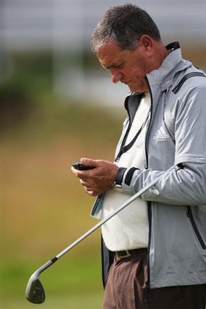 TURNBERRY, SCOTLAND - JULY 14:  Victor Garcia, father of Sergio Garcia, is seen during a practice round prior to the 138th Open Championship on the Ailsa Course, Turnberry Golf Club on July 14, 2009 in Turnberry, Scotland.  (Photo by Ross Kinnaird/Getty Images)