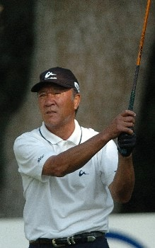 Isao Aoki tees off on the 15th hole during the second round of the Champions' Tour 2005 SBC Classic at  the Valencia Country Club in Valencia, California March 12, 2005.