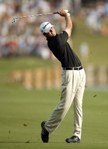Sean O'Hair during the third round of THE PLAYERS Championship held on THE PLAYERS Stadium Course at TPC Sawgrass in Ponte Vedra Beach, Florida, on May 12, 2007. Photo by Hunter Martin/WireImage.com