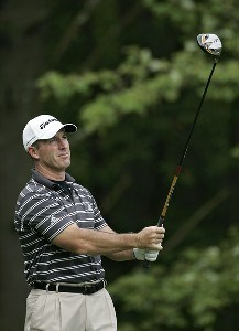 Peter Lonard during the first round of the 2006 Deutsche Bank Championship held at TPC Boston in Norton, Massachusetts on September 1, 2006.Photo by Michael Cohen/WireImage.com