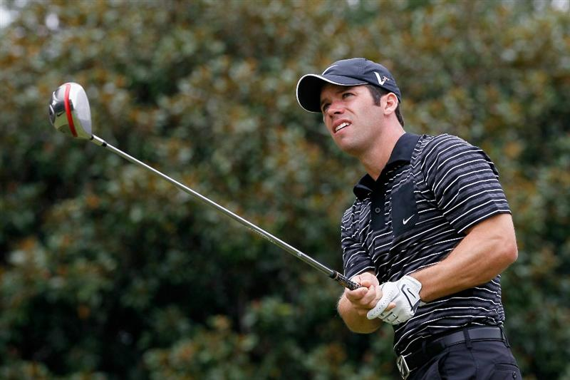 ATLANTA - SEPTEMBER 26:  Paul Casey of England tees off the fifth hole during the final round of THE TOUR Championship presented by Coca-Cola at East Lake Golf Club on September 26, 2010 in Atlanta, Georgia.  (Photo by Kevin C. Cox/Getty Images)