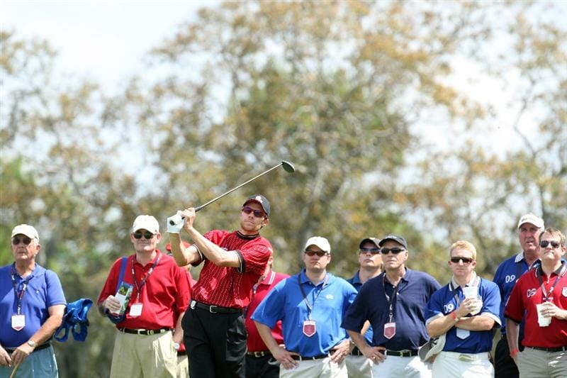 ORLANDO, FL - MARCH 16:  Nick O'Hern of Australia and the Isleworth Team at the 9th hole during the first day of the 2009 Tavistock Cup at the Lake Nona Golf and Country Club, on March 16, 2009 in Orlando, Florida  (Photo by David Cannon/Getty Images)